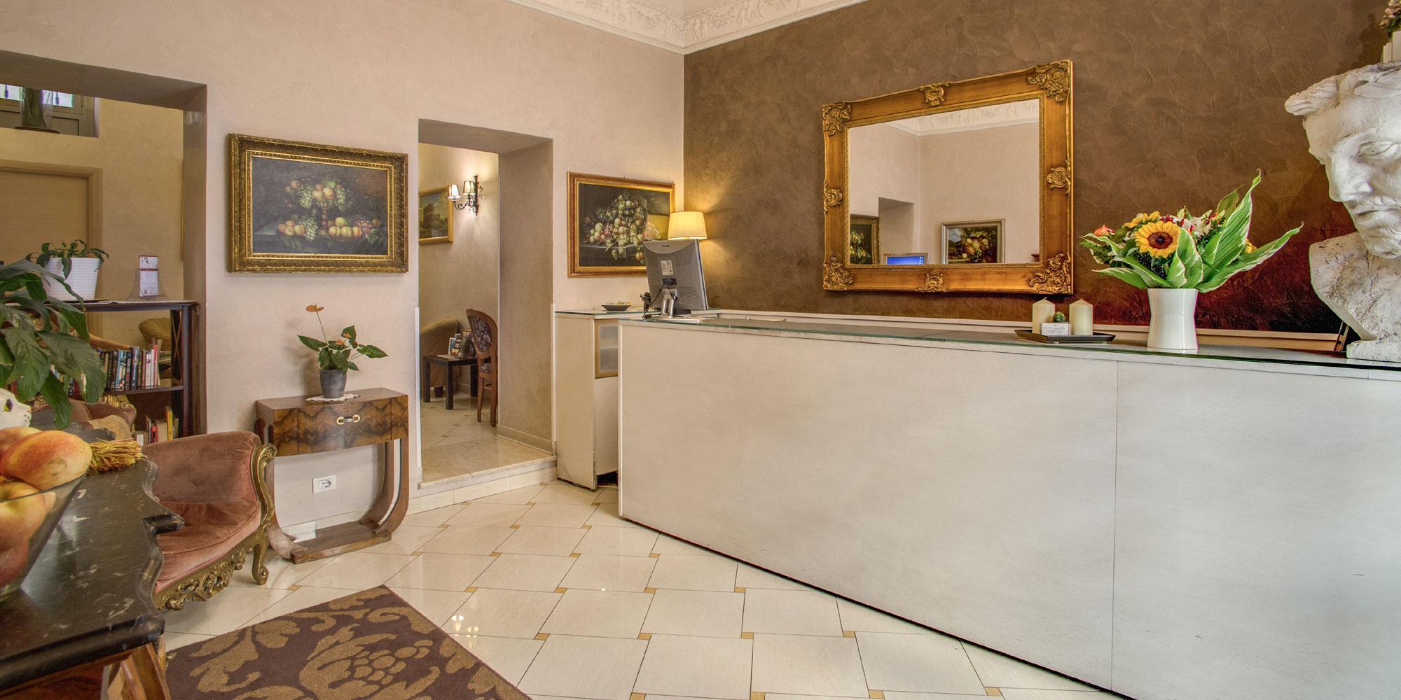 Hotel caravaggio rome reception for Hotel roma rome